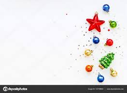 christmas background with decorations year symbol fir tree