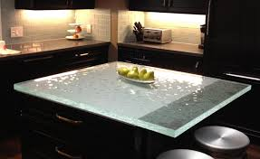 glass top kitchen island glass2 countertops cladding interior exterior application