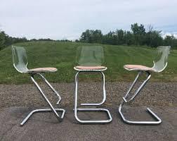 lucite bar stools etsy
