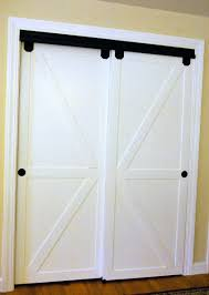 Curtains For A Closet by Diy Faux Barn Doors On A Sliding Bypass Closet Door 02 Featured On