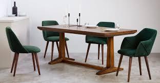 2 x lule high back carver chairs pine green velvet made com