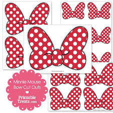 printable minnie mouse bow cut outs printabletreats