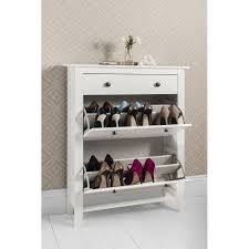 shoe cabinet with drawer cotswold shoe storage unit in white noa nani