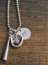 baseball jewelry baseball necklace sted jersey number baseball