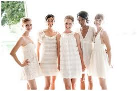 elegant white bridesmaid dresses make your baton rouge wedding
