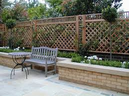 trellis as design element perhaps to hide an ugly wall or view