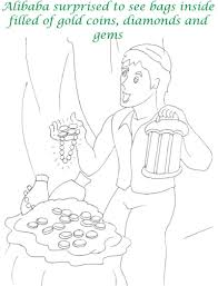 alibaba story printable coloring page for kids 20