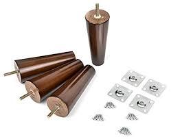 mid century coffee table legs 6 solid wood furniture legs 100 oak set of 4 mid century