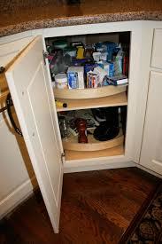 diagonal corner kitchen base cabinet wood lazy susan in a diagonal corner base cabinet corner