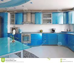dessus de comptoir de cuisine pas cher cuisine bleue photo libre de droits image 10199935 dessus de