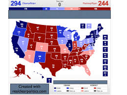 2012 Presidential Election Map by Electoral Vote Predictor October 2012