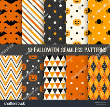 halloween seamless background ten halloween different seamless patterns endless stock vector
