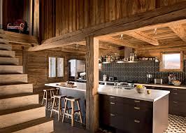 cuisine chalet bois populaire decoration cuisine chalet id es de d coration salle bain a