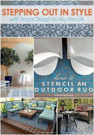 Royal Blue Outdoor Rug Stencil Paint And Pattern Ideas For Stylish Outdoor Rugs Royal