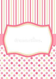polka dots invitations invitation card with pink polka dots and stripes stock