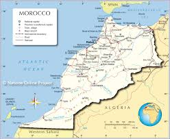 Political Map Of The Middle East by Political Map Of Morocco Nations Online Project