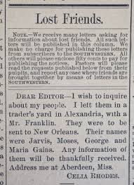 history of black friday slavery history of slavery newspaper ads used to find family after