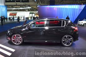 peugeot hatchback 308 peugeot 308 gti side at iaa 2015 indian autos blog