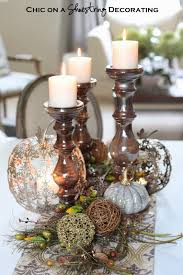 chic on a shoestring decorating fall centerpiece and pier 1 gift