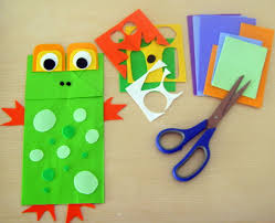 spring animal paper bag puppets bunch