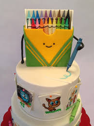 Crayon Box Doodle Cake Cakecentral Com