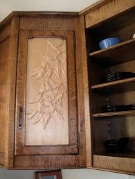 Kitchen Cabinet Door Panels Close Up Of Hand Carved Cabinet Door Panel Birds In An Avocado