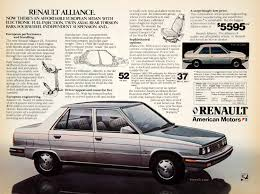 1986 renault alliance vintage advertising art tagged
