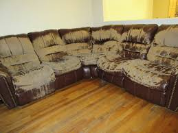 Bedroom Ashley Furniture Wichita Ks Sectional Sofa In Brown And