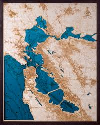 San Francisco Bay Map by Large San Francisco Bay Area 3d Wood Map U2022 Tahoe Wood Maps