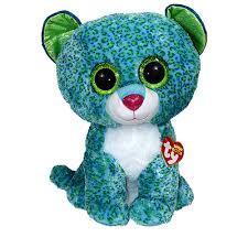 ty beanie boos leona leopard glitter eyes large size 17