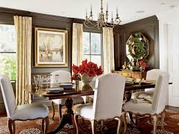 a high gloss finish makes these dark brown walls especially dramatic