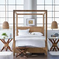 palecek woodside canopy bed queen jeffrey alan marks collection