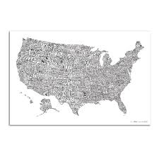 Map Of Usa Black And White by Luckies Scratch Map Word Map Of Usa Huckberry
