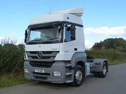 mercedes truck white mercedes benz axor 1843 4 x 2 tractor unit