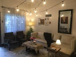 Living Room Cozy String Light Ideas Battery Fairy Lights