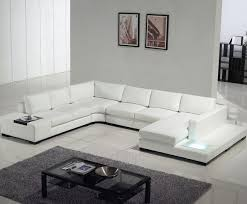 White Sofa Sets Leather Furniture Glamorous Modern White Top Grain Leather Sofa Modern