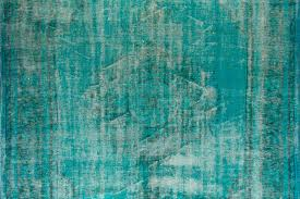 Over Dyed Distressed Rugs Distressed Vintage Turkish Rug Over Dyed In Turquoise Color At 1stdibs