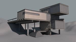 cinema 4d architektur free c4d model modern architecture building the pixel lab