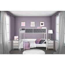 Purple Bunk Beds Bunk Loft Beds Bedroom Furniture The Home Depot