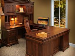 Shaped Desk St Gallen Brown Maple U Shaped Desk Countryside Amish Furniture