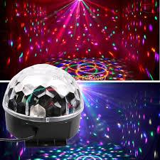 led disco ball light 27w 9 colors led disco ball light dj music ball for christmas party