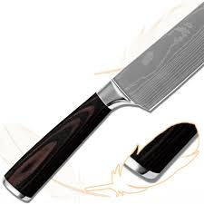 laser kitchen knives products kitchen knives laser damascus flowing sand pattern