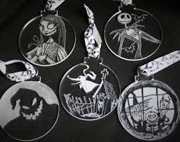 nightmare before ornaments etsy