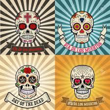 dia de los muertos sugar skulls frames with sugar skull on background day of the dead dia