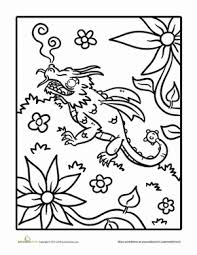 dragon coloring pages education