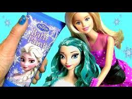 frozen elsa blue hair princess makeover at barbie u0027s hair salon
