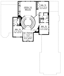 floor plans with spiral staircase plan 89677ah two curved staircases staircases and house