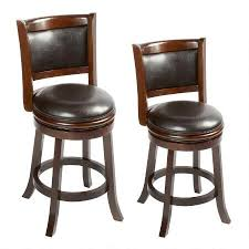 faux leather and wood swivel barstool tree shops andthat