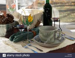 Casual Table Setting Casual Lunch Table Setting Simple And Rustic With Artsy Wine