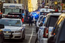 several hurt when bomb strapped to explodes in ny subway